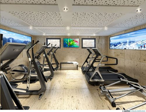 Fitnessraum in den Ski & Nature Apartments